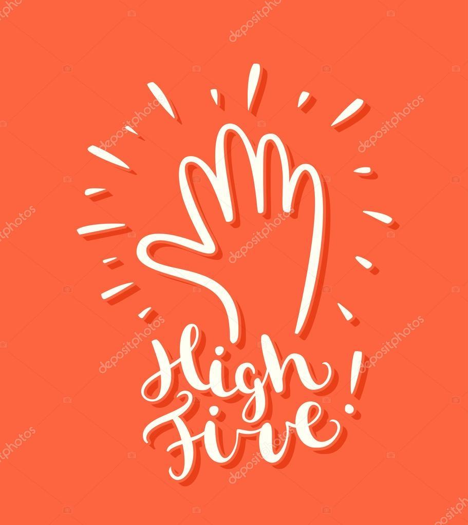 High five greeting card stock vector alexgorka 95361348 high five greeting card vector vector by alexgorka m4hsunfo