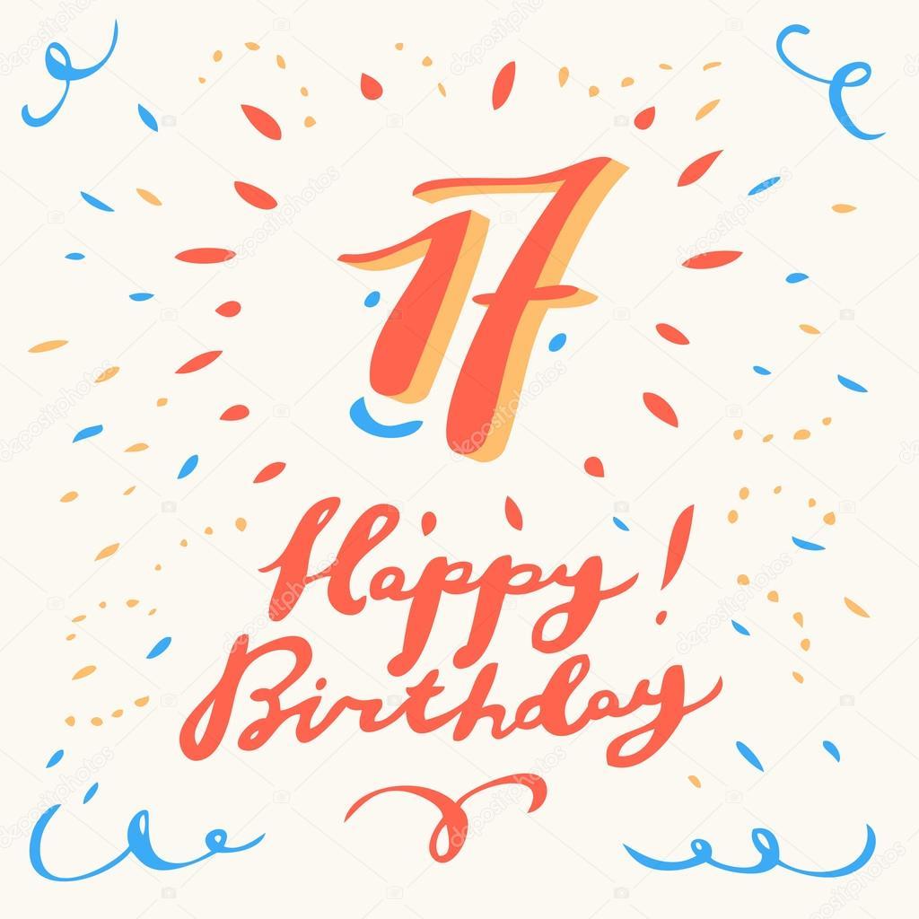 boldog 17 születésnapot 17. Boldog születésnapot kártya — Stock Vektor © alexgorka #95362674 boldog 17 születésnapot