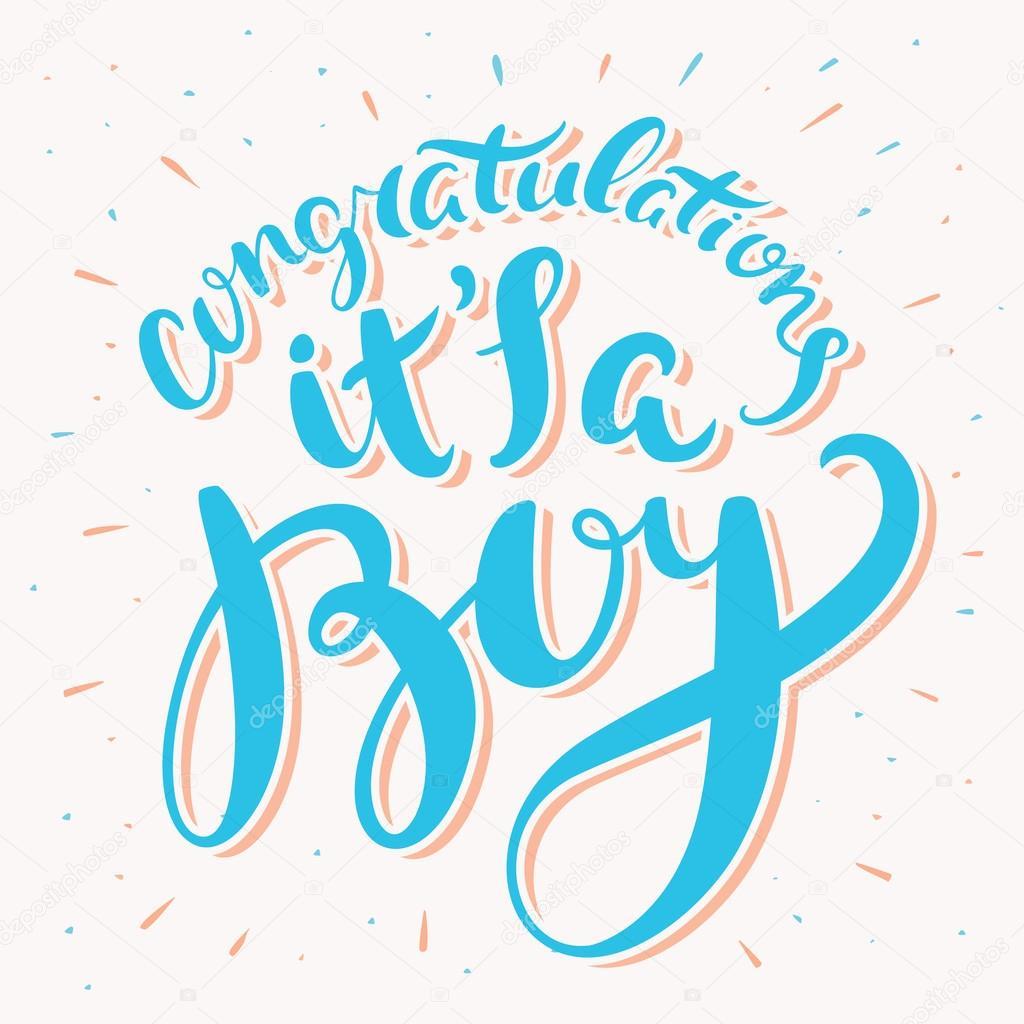 gratulationer till nyfödd son Grattis, är det en pojke — Stock Vektor © alexgorka #95362782 gratulationer till nyfödd son