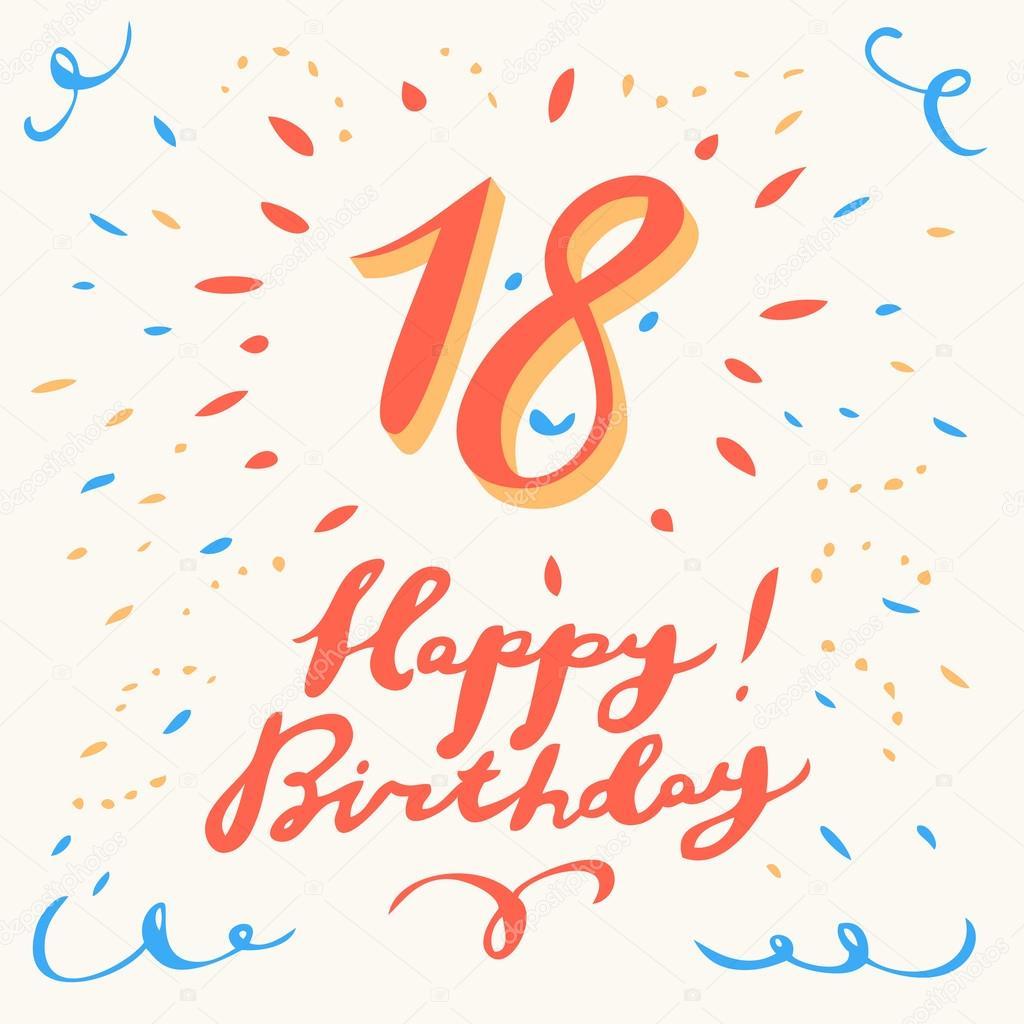 18 Geburtstag Karte Stockvektor C Alexgorka 95363628