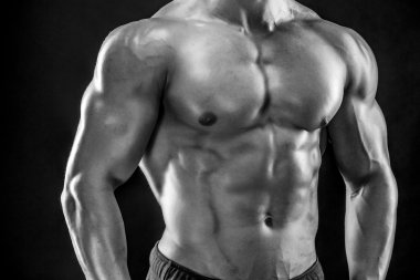 Close-up of man model torso