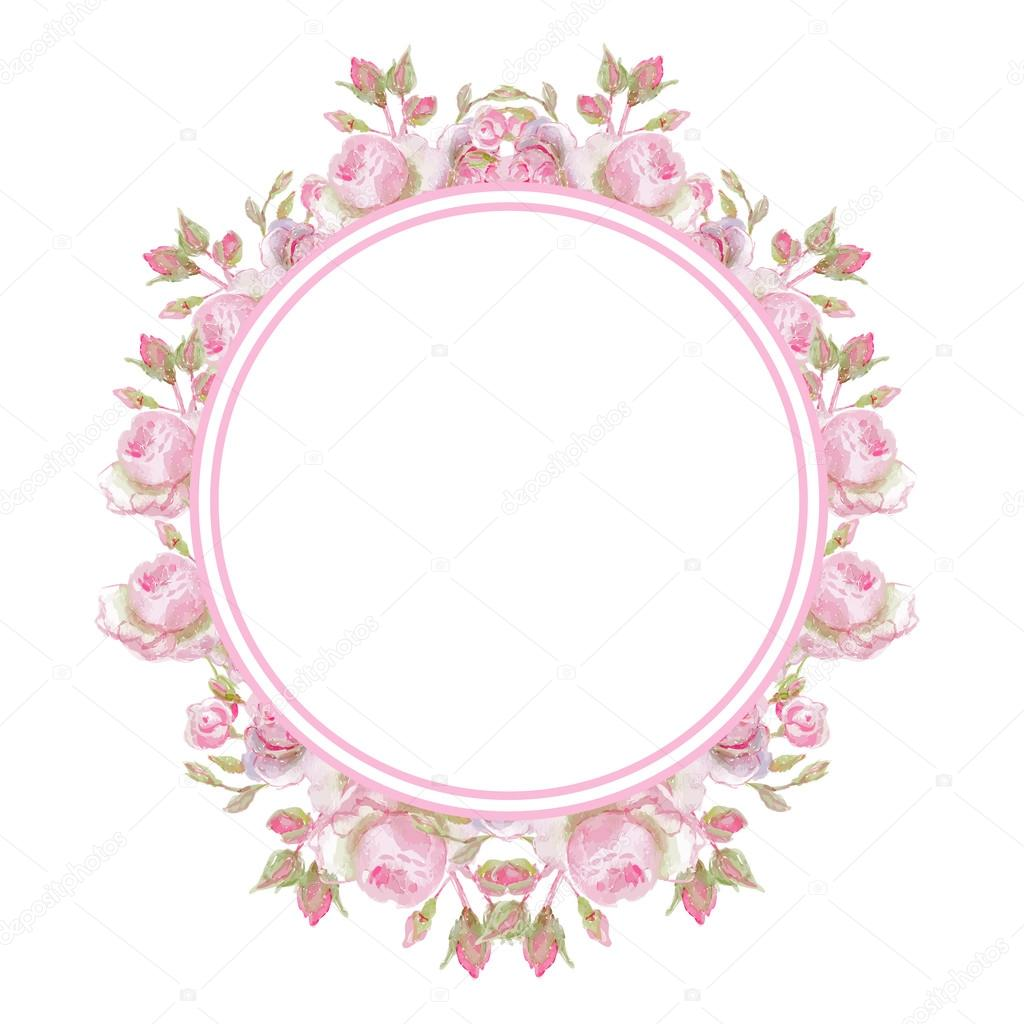 Floral Vintage Frame Wedding Rings Stock Vector 104978306