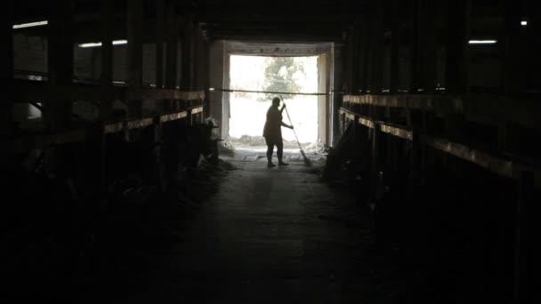 Čistič na farmě pro chov krav