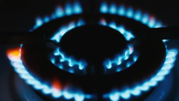 Gasbrenner, der Erdgas verbrennt