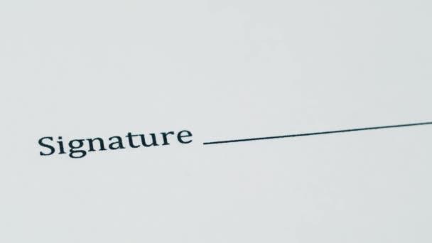 Signaturen, Federschrift