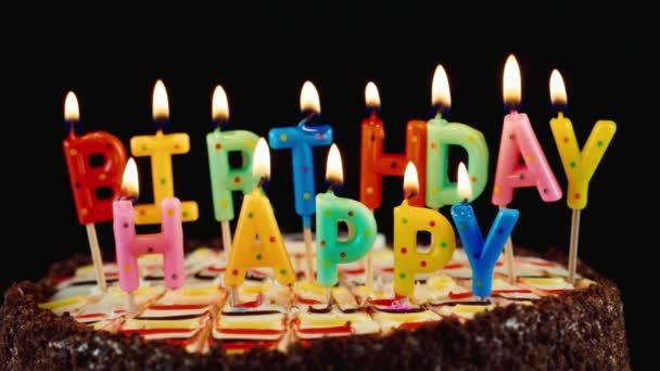 Sváteční svíčky Happy Birthday na dort