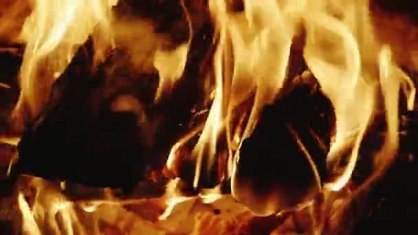 hořící dřevo v krbu