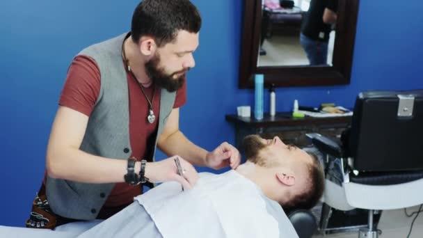 Friendly bearded barber