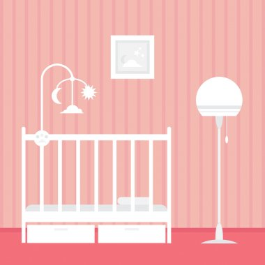 Baby room with furnitures