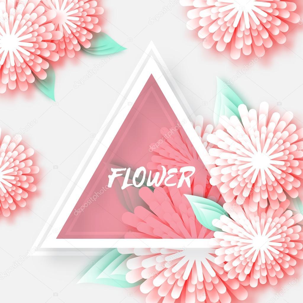 Origami floral greeting card stok vektr mash3r 120161972 origami floral greeting card stok vektr mightylinksfo