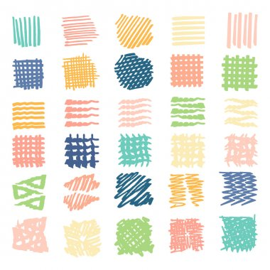 Drawn textures .Different shapes scribble, line, spot, drop, Vector illustration. Isolated. stock vector
