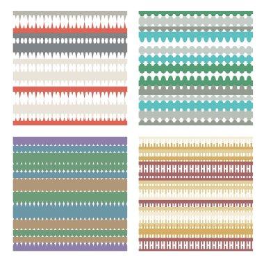colorful geometric seamless patterns.