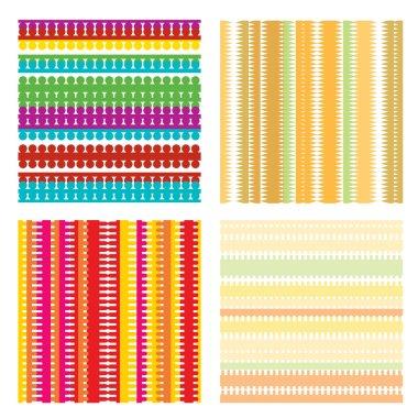 Colorful geometric seamless patterns