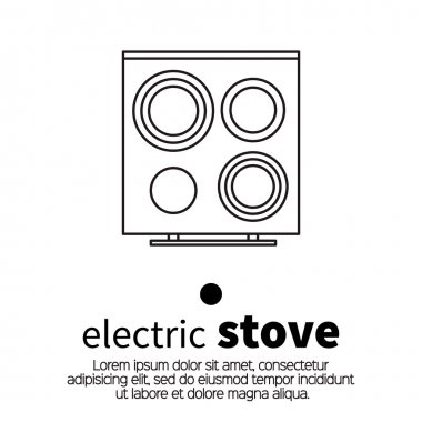 Top view surface for electric stove.