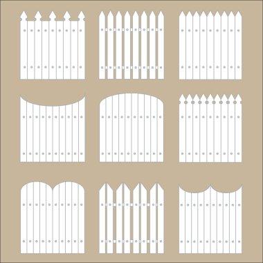 white rural fences