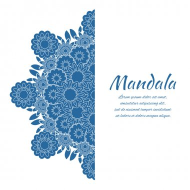 Abstract mandala. Floral ornamental border