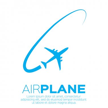 Airplane top view symbol.
