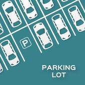 Fotografie Top View Parking lot design