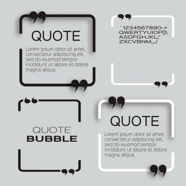 Quote bubble tamplate.
