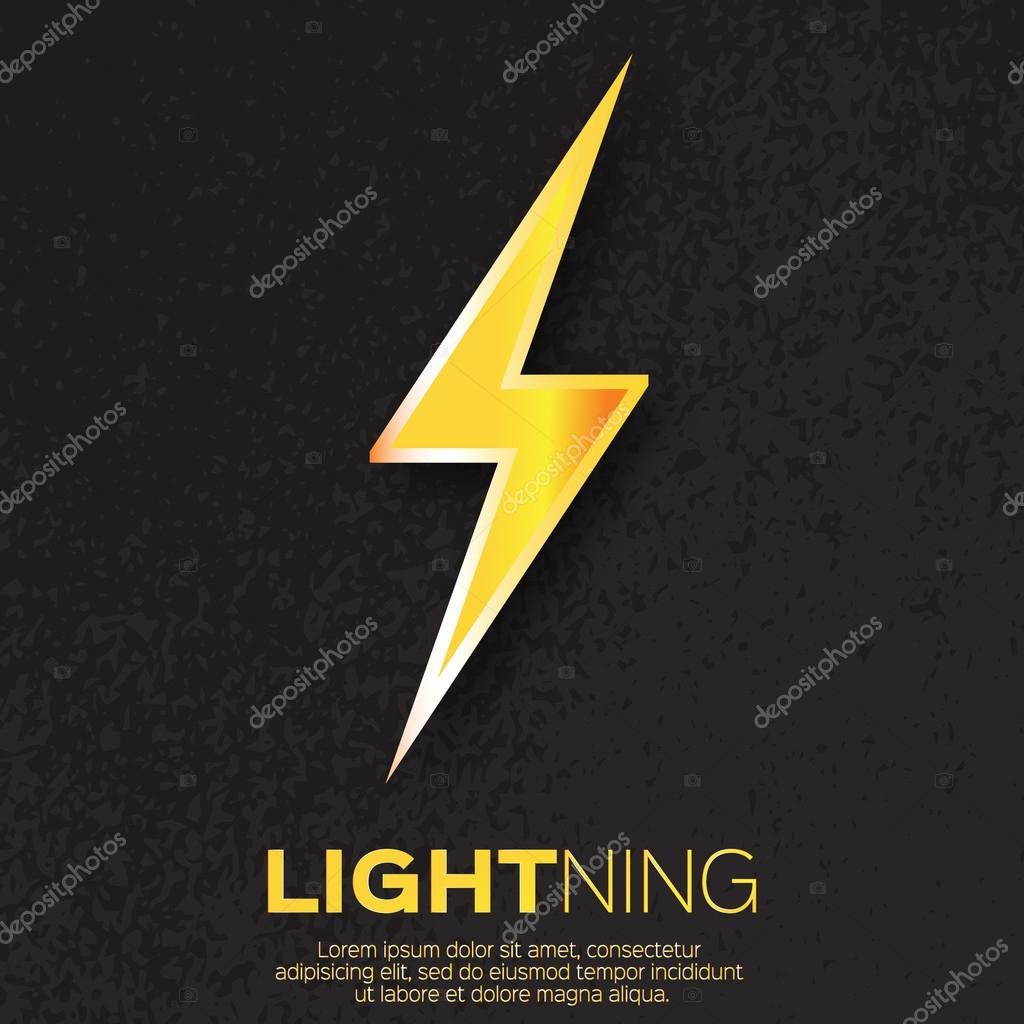 Bright Lightning bolt.