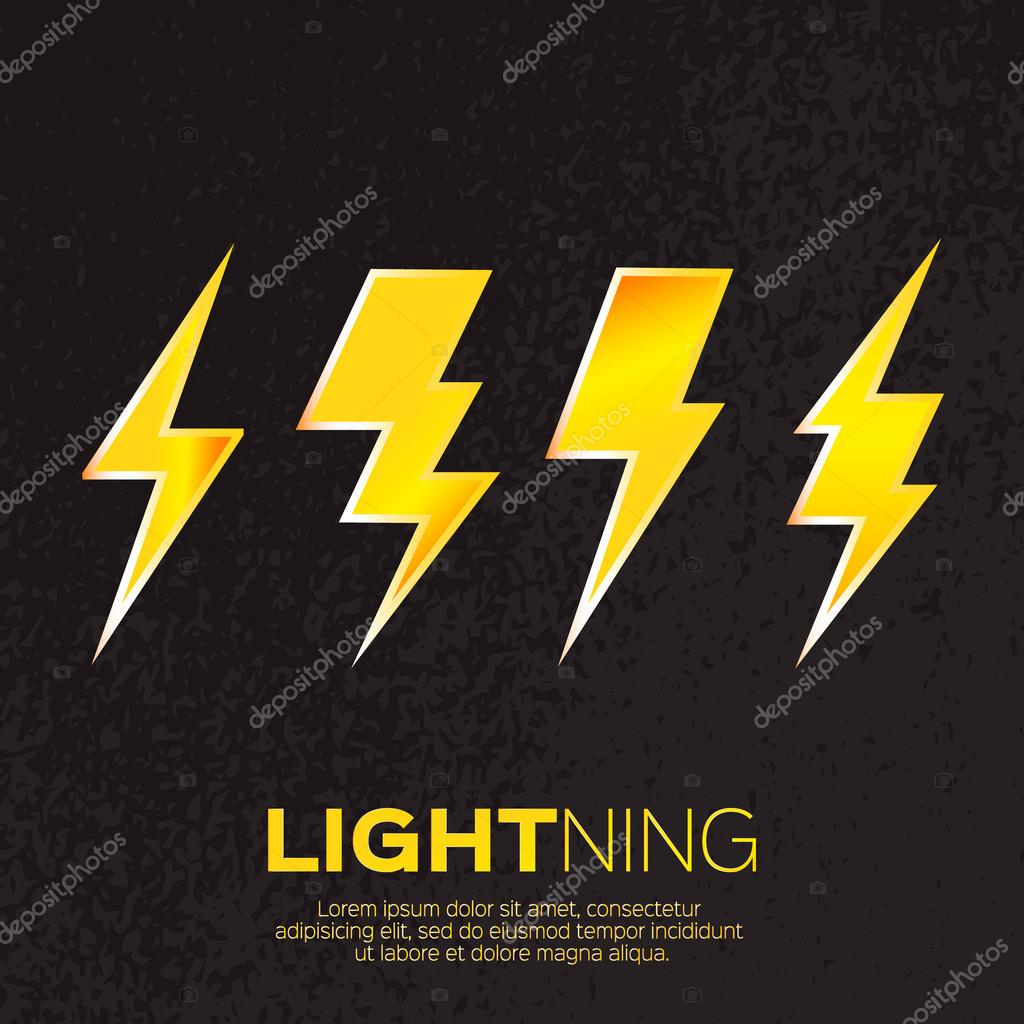Bright Lightning bolt.