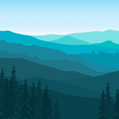 Blue Mountain landscape.