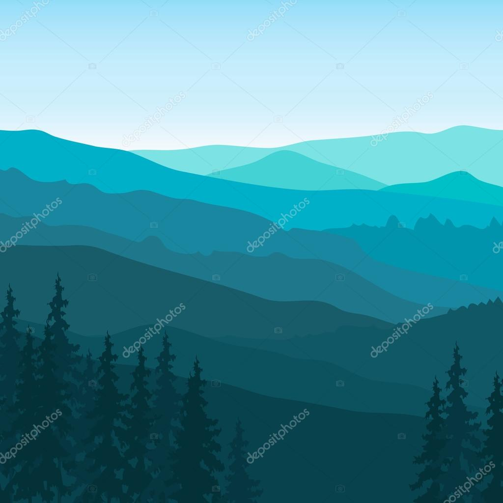 Blue Mountain landscape.