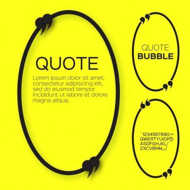 Oval Quote bubbles