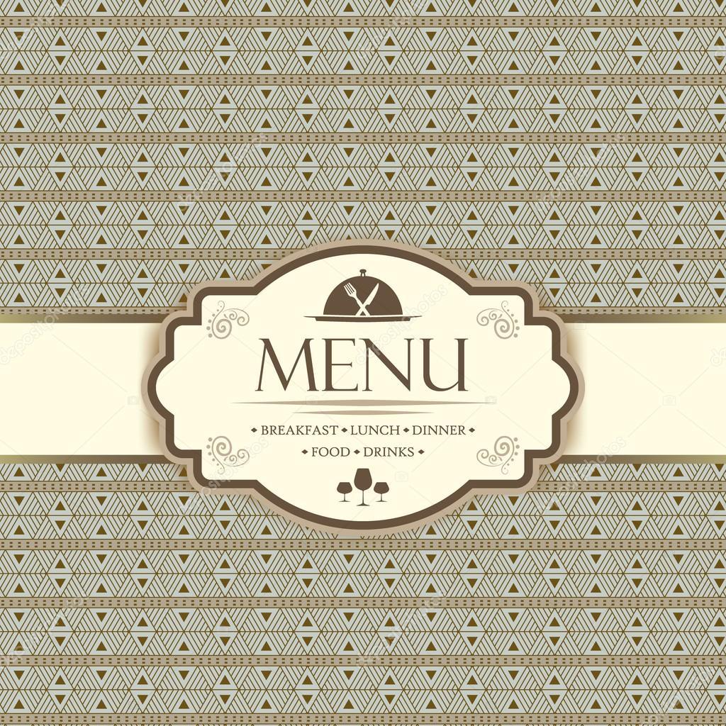 Menüvorlage für Restaurants, Bars und Getränke — Stockvektor ...