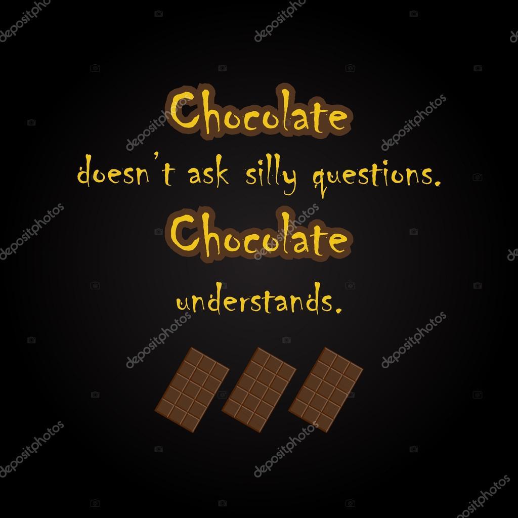 Grappige Citaten : De citaten van de chocolade grappige inscriptie sjabloon