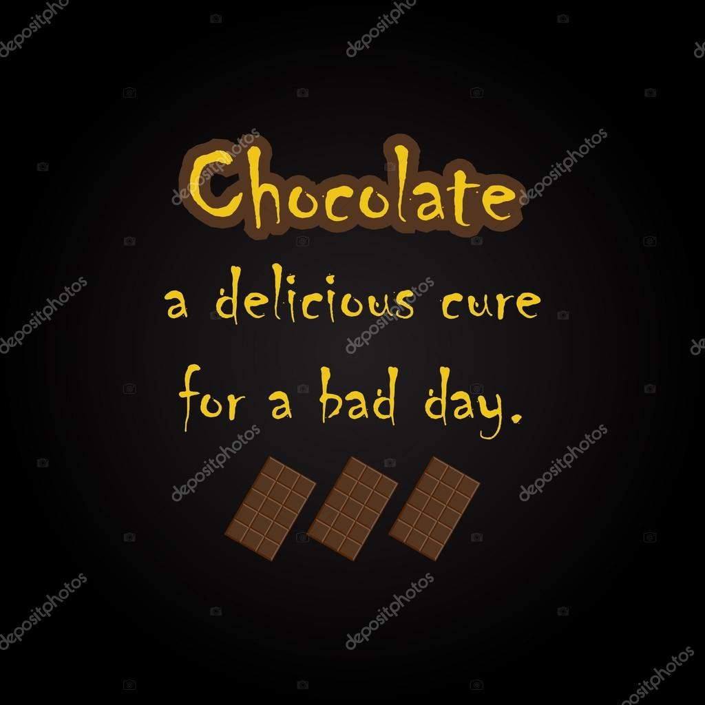Chocolate quotes - funny inscription template — Stock Vector ...
