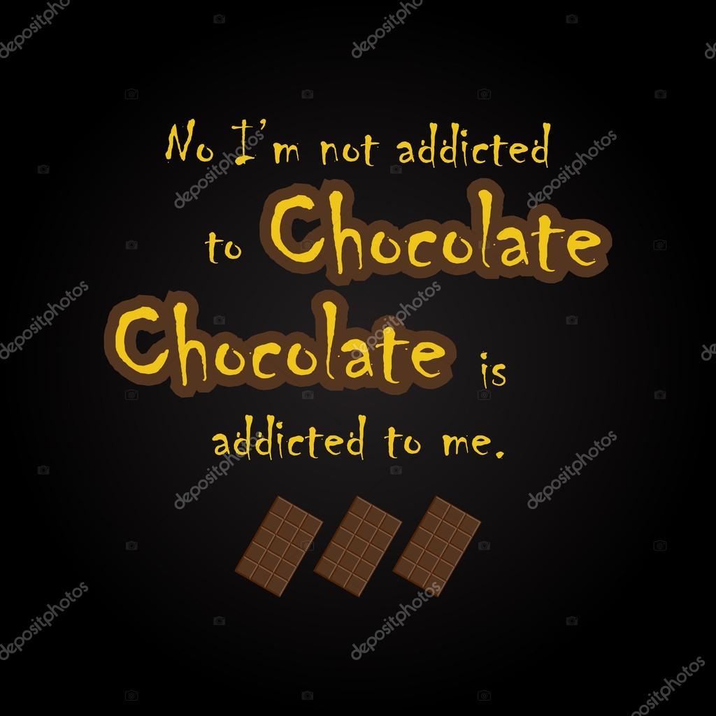 Schokolade-Zitate - lustige Inschrift Vorlage — Stockvektor ...