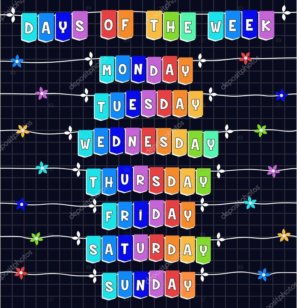 days of the week template
