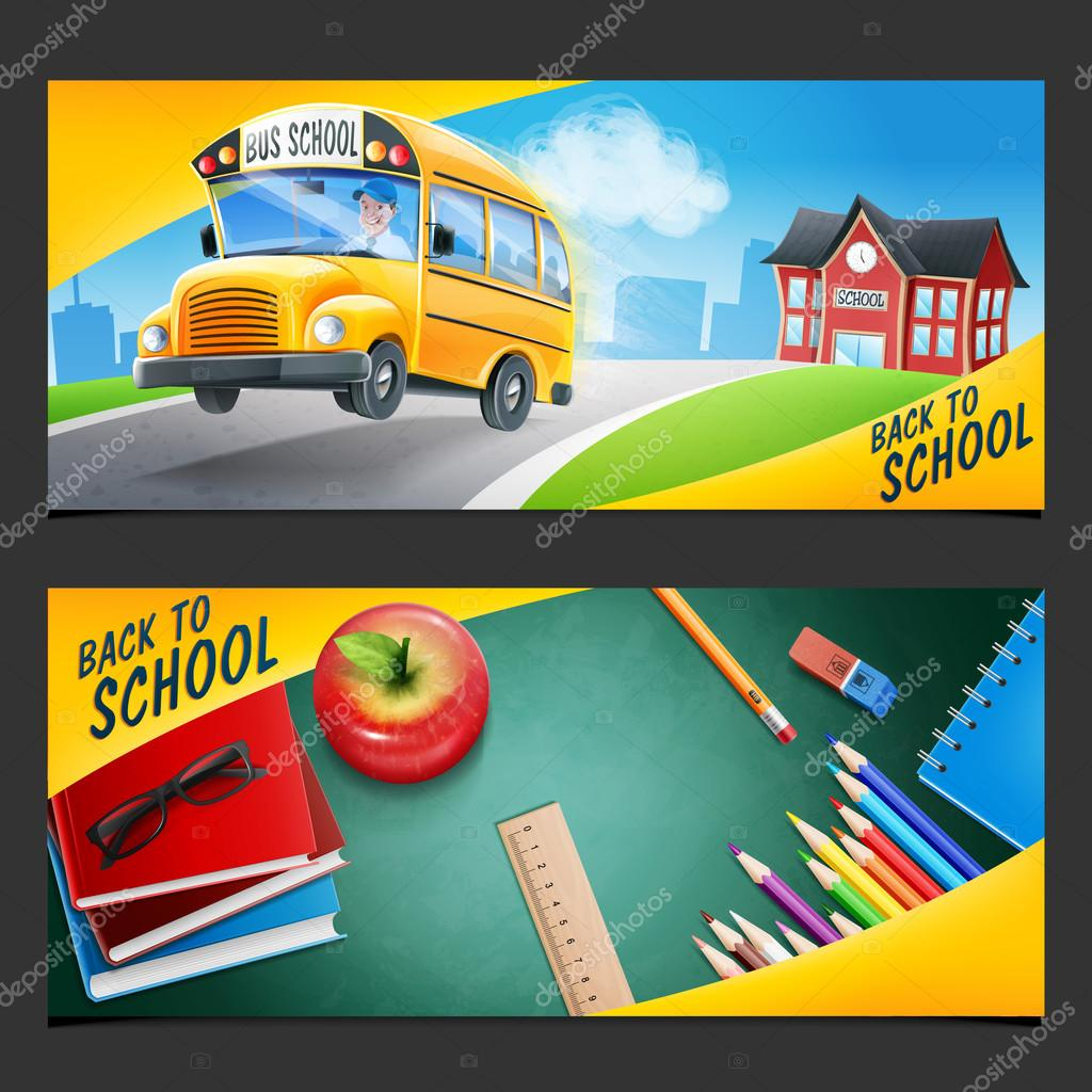 Back to School and school bus
