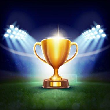 Golden sport cup