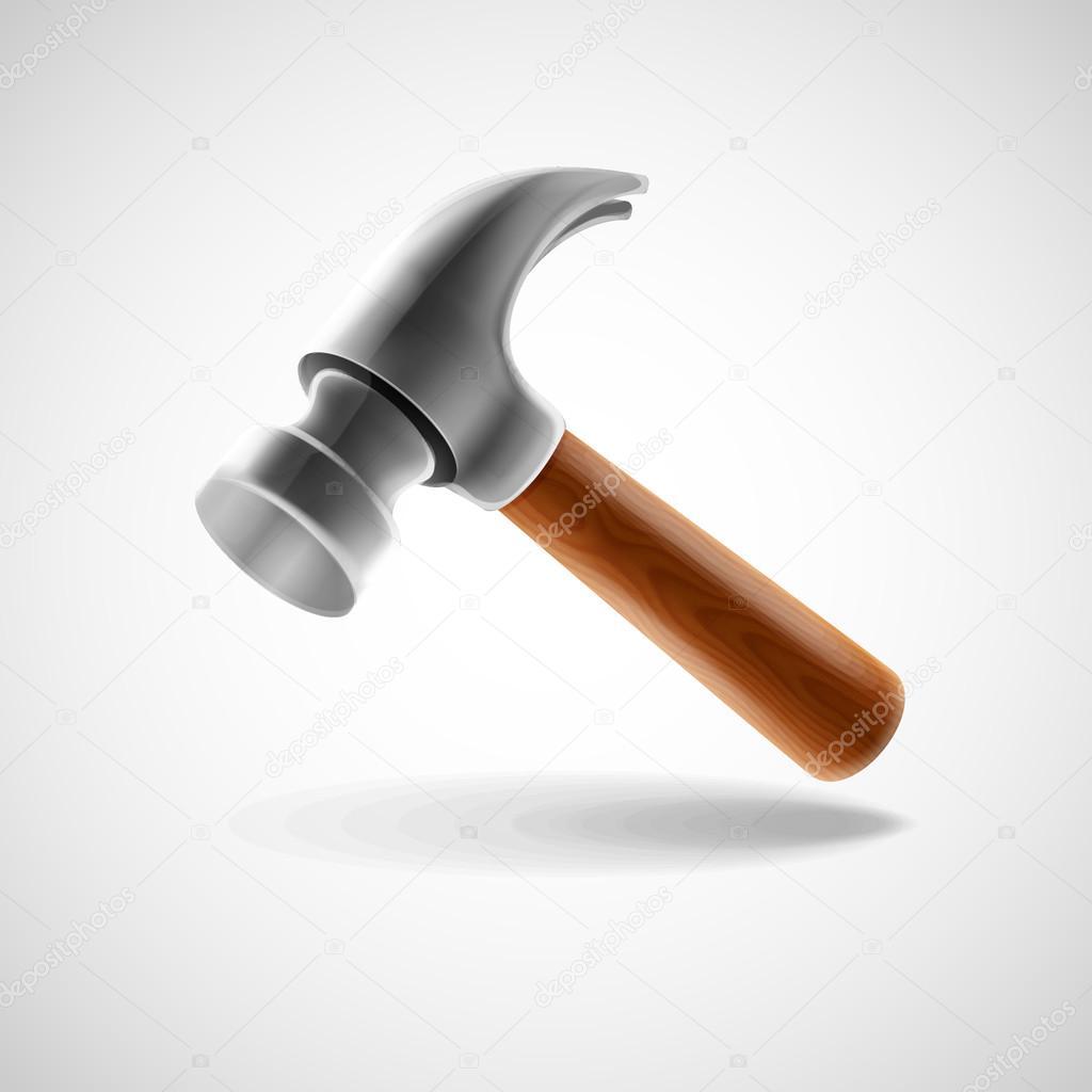 hammer-werkzeug-symbol — stockvektor © mollicart #111619714