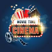 sign for movie time background