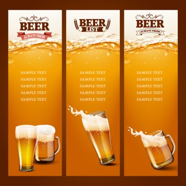 Beer list for bar backgrounds stock vector