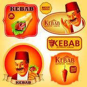 turecký kebab prémiové nálepky