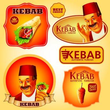turkish kebab premium stickers