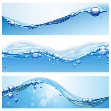 waves water banners