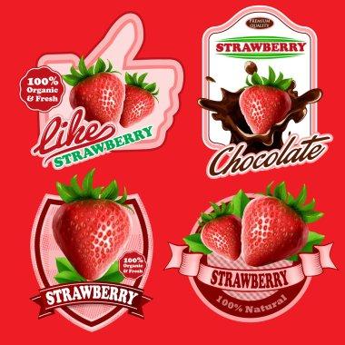 strawberries  food banners