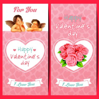 Beautiful  invitation for Valentine's day stock vector
