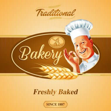 bakery background  with frame