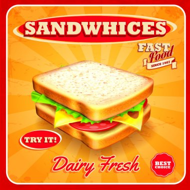 fresh sandwich food