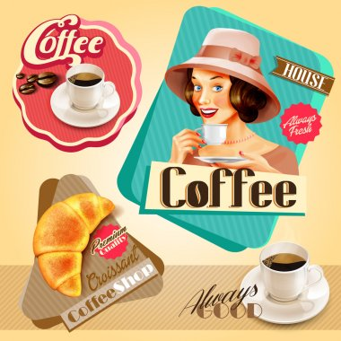 menu coffee banners
