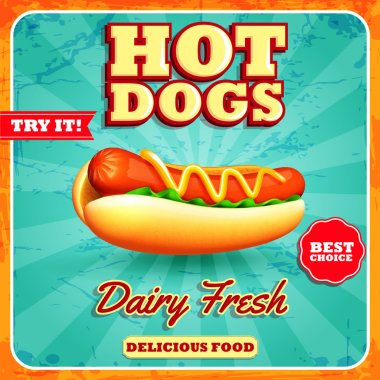 hot dogs menu banner