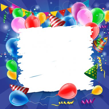 Vector Illustration of a Happy Birthday Greeting Card stock vector