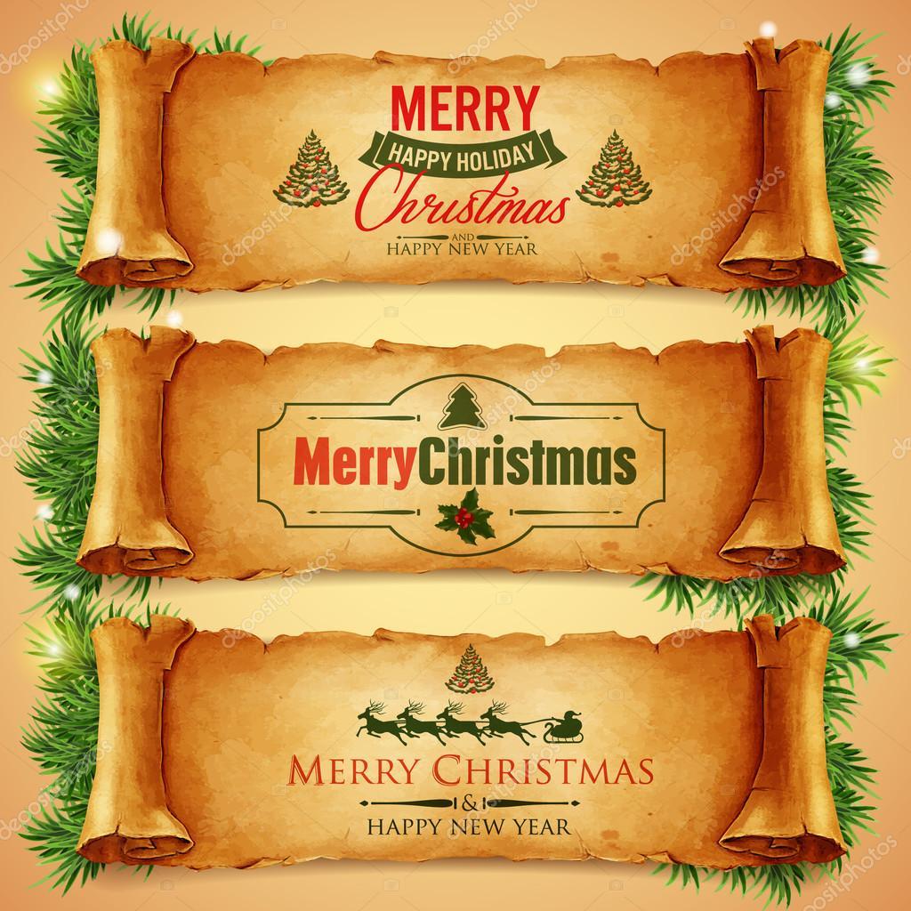 Buon Natale 883.Striscioni Con Scritte Di Buon Natale Vettoriali Stock C Mollicart