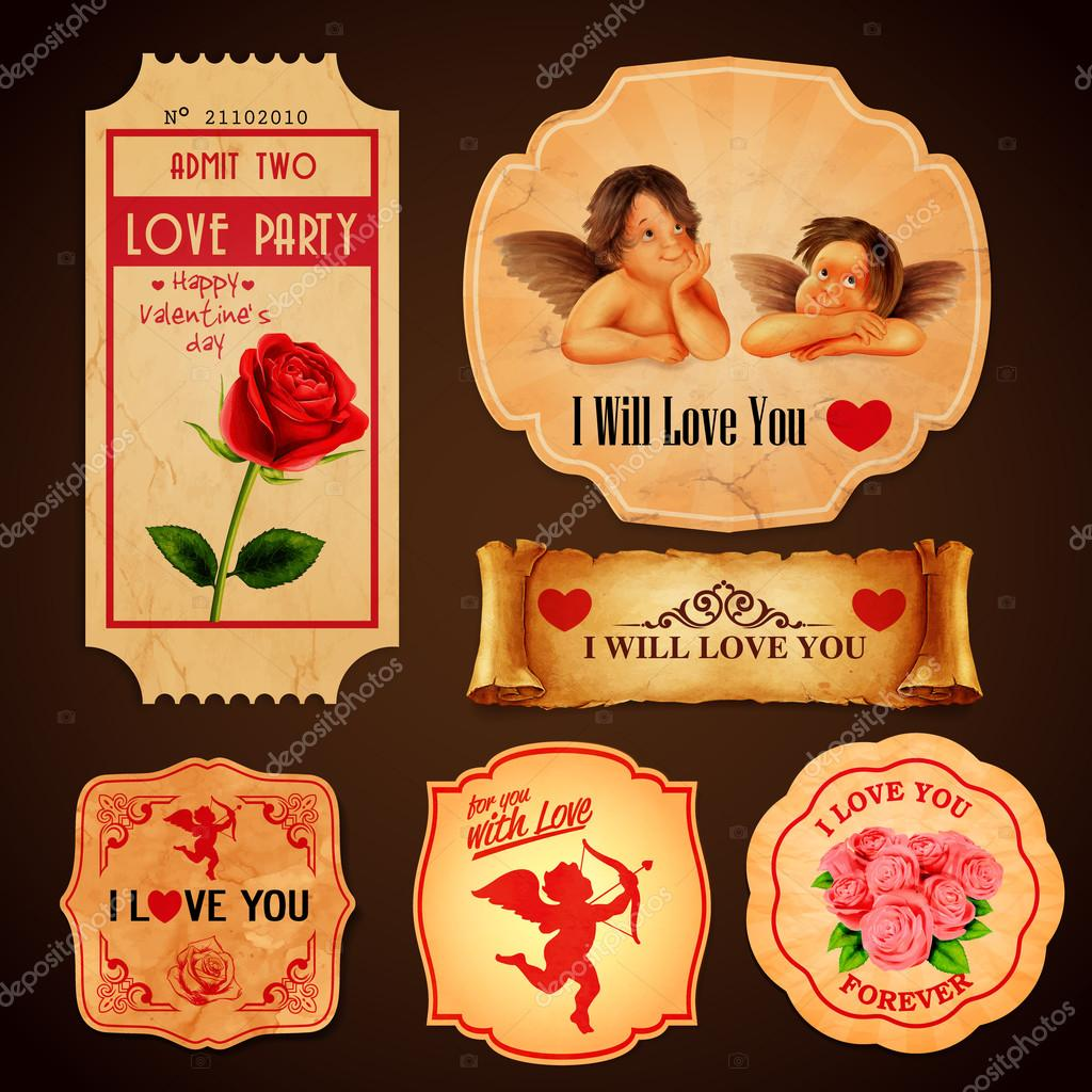 stickers  for Valentine's day